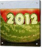 2012 Watermelon Carving Acrylic Print