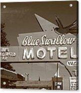 Route 66 - Blue Swallow Motel Acrylic Print