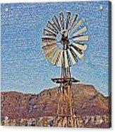 Water Pump Windmill Acrylic Print