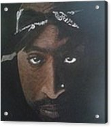 2pac In Colour Acrylic Print