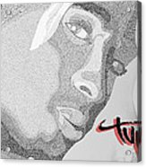 2pac Text Picture Acrylic Print