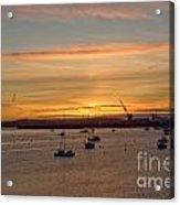 Sunrise Falmouth Docks Acrylic Print