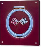 1967 Chevrolet Corvette Emblem Acrylic Print