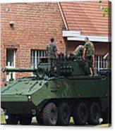 A Belgian Army Piranha IIic Acrylic Print