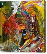 African Bead Painting  Acrylic Print