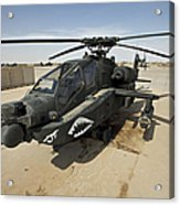 An Ah-64d Apache Helicopter At Cob Acrylic Print