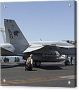 An Fa-18c Hornet During Flight Acrylic Print