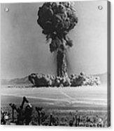 Atomic Bomb Explosion Acrylic Print