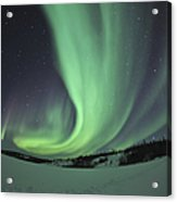 Aurora Borealis Over Prosperous Lake Acrylic Print