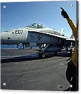 Aviation Boatswains Mate Directs Acrylic Print