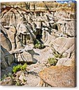 Badlands In Alberta Acrylic Print
