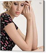 Blond Lady Acrylic Print