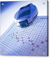 Blood Glucose Tester Acrylic Print by Steve Horrell