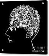 Brain Design By Cogs And Gears Acrylic Print