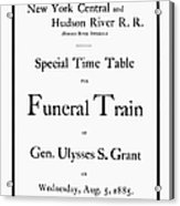 Burial Of Ulysses S. Grant Acrylic Print