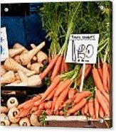 Carrots Acrylic Print by Tom Gowanlock
