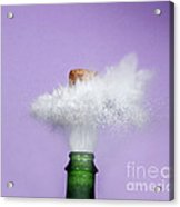 Champagne Cork Popping Acrylic Print by Ted Kinsman