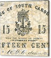 Confederate Currency Acrylic Print
