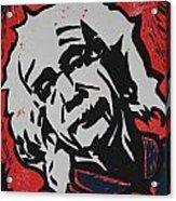 Einstein 2 Acrylic Print by William Cauthern
