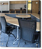 Empty Boardroom Or Meeting Room In An Acrylic Print