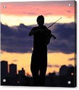 Fiddler On The Roof Acrylic Print by Nina Mirhabibi