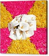 Flower Carpet Acrylic Print