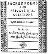 George Herbert (1593-1633) Acrylic Print