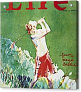 Golfing: Magazine Cover Acrylic Print