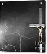 Good Friday - Crucifixion Of Jesus Bw Acrylic Print