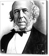 Herbert Spencer, English Polymath Acrylic Print by Science Source