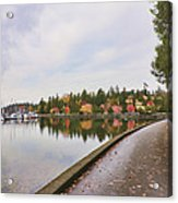 In Urban Stanley Park The Promenade Acrylic Print by Douglas Orton