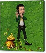 Leprechaun Painting Acrylic Print