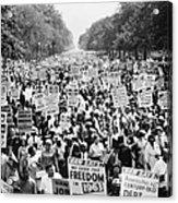 March On Washington. 1963 Acrylic Print by Granger