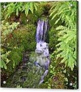Mossy Waterfall Acrylic Print