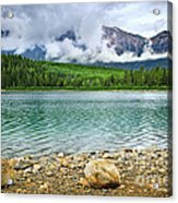 Mountain Lake In Jasper National Park Acrylic Print