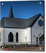 Norwegian Church Cardiff Bay Acrylic Print