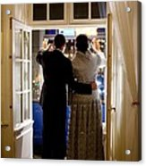 President Barack Obama And First Lady Acrylic Print by Everett