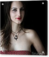 Red And Black Acrylic Print by Eena Bo