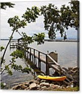River Walk On The Indian River Lagoon Acrylic Print