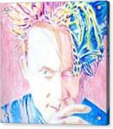 Robert In Pink And Blue Acrylic Print