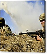 Seabees Defend Their Camp Acrylic Print