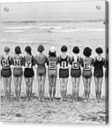 Silent Film Still: Beach Acrylic Print