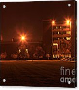 Sodium Vapor Lights On College Campus Acrylic Print