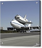 Space Shuttle Endeavour Mounted Acrylic Print