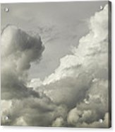 Storm Clouds And Thunder Heads Before Rain Storm Fine Art Print Acrylic Print