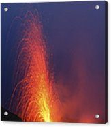 Stromboli Eruption, Aeolian Islands Acrylic Print