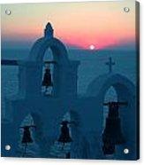 Sunset Santorini Greece Acrylic Print