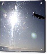 Supermarine Spitfire Mk. Xviii Fighter Acrylic Print by Daniel Karlsson