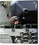 Tank Driver Of A Leopard 1a5 Mbt Acrylic Print