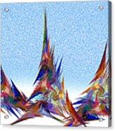 3 Teepees Snow Storm Acrylic Print